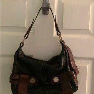 Michael Kors black and brown leather bag